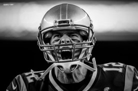 Tom Brady #12 of the New England Patriots reacts as he runs onto the field before the opening game of the 2017 NFL season against the Kansas City Chiefs at Gillette Stadium in Foxborough, Mass. on Sept. 7, 2017. (Photo by Billie Weiss/The Players' Tribune)