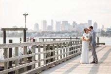 """The wedding of Lauren and Mike on Thompson Island in Boston, Massachusetts."""