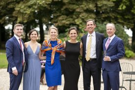 August 26, 2018, Carsix, France: The wedding of Kate Smith and Mitch Newman is held at Chateau Philippe de Fay in Carsix, France Sunday, August 26, 2018. (Photo by Billie Weiss)