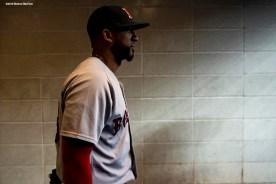 NEW YORK, NY - SEPTEMBER 18: Eduardo Nunez #36 of the Boston Red Sox walks out of the clubhouse before a game against the New York Yankees on September 18, 2018 at Yankee Stadium in the Bronx borough of New York City. (Photo by Billie Weiss/Boston Red Sox/Getty Images) *** Local Caption *** Eduardo Nunez