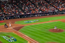 HOUSTON, TX - OCTOBER 18: David Price #24 of the Boston Red Sox delivers during the first inning of game five of the American League Championship Series against the Houston Astros on October 18, 2018 at Minute Maid Park in Houston, Texas. (Photo by Billie Weiss/Boston Red Sox/Getty Images) *** Local Caption *** David Price