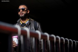 BOSTON, MA - OCTOBER 25: Eduardo Nunez #36 of the Boston Red Sox looks on as they travel to Los Angeles before game three of the 2018 World Series against the Los Angeles Dodgers on October 25, 2018 at Fenway Park in Boston, Massachusetts. (Photo by Billie Weiss/Boston Red Sox/Getty Images) *** Local Caption *** Eduardo Nunez