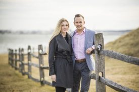 January 27, 2018, Baltimore, MD: Evan and Maggie pose for engagement photos at Fort McHenry in Baltimore, Maryland Saturday, January 27, 2018. (Photo by Billie Weiss)