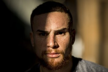 FT. MYERS, FL - FEBRUARY 12: Christian Vazquez #7 of the Boston Red Sox poses for a portrait in the cage during a team workout on February 12, 2018 at Fenway South in Fort Myers, Florida . (Photo by Billie Weiss/Boston Red Sox/Getty Images) *** Local Caption *** Christian Vazquez