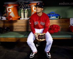 BOSTON, MA - APRIL 12: Andrew Benintendi #16 of the Boston Red Sox looks on before a game against the Baltimore Orioles on April 12, 2019 at Fenway Park in Boston, Massachusetts. (Photo by Billie Weiss/Boston Red Sox/Getty Images) *** Local Caption *** Andrew Benintendi