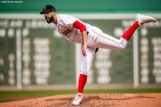 BOSTON, MA - APRIL 14: David Price #10 of the Boston Red Sox delivers during the first inning of a game against the Baltimore Orioles on April 14, 2019 at Fenway Park in Boston, Massachusetts. (Photo by Billie Weiss/Boston Red Sox/Getty Images) *** Local Caption *** David Price