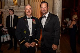 LONDON, ENGLAND - JUNE 27: Brigadier General Jack Hammond and former Boston Red Sox pitcher Tim Wakefield attend the Mission Gratitude Gala in Cooperation with Home Base and the Red Sox Foundation ahead of the 2019 Major League Baseball London Series on June 27, 2019 at Kensington Palace in London, England. (Photo by Billie Weiss/Boston Red Sox/Getty Images) *** Local Caption *** Jack Hammond; Tim Wakefield