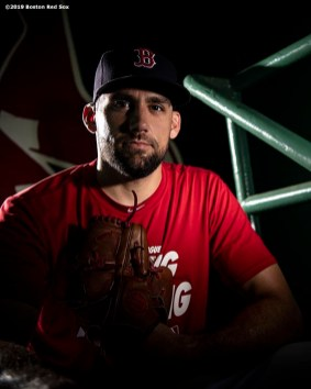 BOSTON, MA - JULY 26: Nathan Eovaldi #17 of the Boston Red Sox poses for a portrait before a game against the New York Yankees on July 26, 2019 at Fenway Park in Boston, Massachusetts. (Photo by Billie Weiss/Boston Red Sox/Getty Images) *** Local Caption *** Nathan Eovaldi
