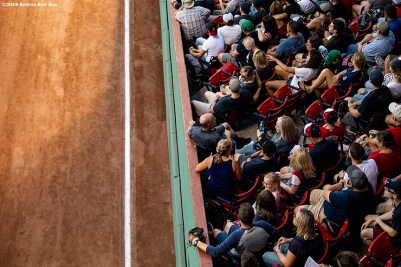 BOSTON, MA - JULY 26: Fans look on during a game between the Boston Red Sox and the New York Yankees on July 26, 2019 at Fenway Park in Boston, Massachusetts. (Photo by Billie Weiss/Boston Red Sox/Getty Images) *** Local Caption ***