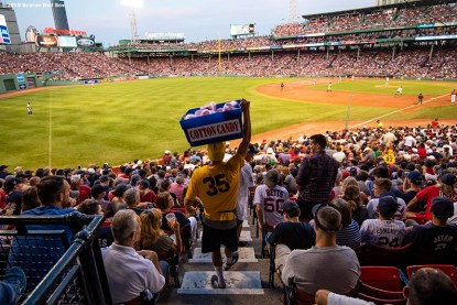 BOSTON, MA - JULY 26: A vendor sells cotton candy during a game between the Boston Red Sox and the New York Yankees on July 26, 2019 at Fenway Park in Boston, Massachusetts. (Photo by Billie Weiss/Boston Red Sox/Getty Images) *** Local Caption ***