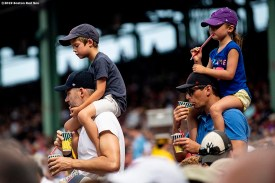 BOSTON, MA - JULY 27: Fans find their seats before a game between the Boston Red Sox and the New York Yankees on July 27, 2019 at Fenway Park in Boston, Massachusetts. (Photo by Billie Weiss/Boston Red Sox/Getty Images) *** Local Caption ***