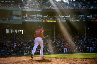 BOSTON, MA - JULY 27: Eduardo Rodriguez #57 of the Boston Red Sox walks onto the field during the sixth inning of a game against the New York Yankees on July 27, 2019 at Fenway Park in Boston, Massachusetts. (Photo by Billie Weiss/Boston Red Sox/Getty Images) *** Local Caption *** Eduardo Rodriguez