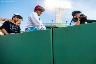 BOSTON, MA - AUGUST 16: Fans look on before a game between the Boston Red Sox and the Baltimore Orioles on August 16, 2019 at Fenway Park in Boston, Massachusetts. (Photo by Billie Weiss/Boston Red Sox/Getty Images) *** Local Caption ***