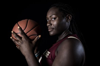 """""""Members of the 2019 Boston College Women's Basketball team pose for portraits on black at Boston College in Chestnut Hill, Massachusetts."""""""