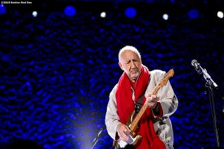 September 13, 2019 , Boston, MA: Pete Townshend performs during a concert by The Who at Fenway Park in Boston, Massachusetts Friday, September 13, 2019. (Photo by Billie Weiss/Boston Red Sox)