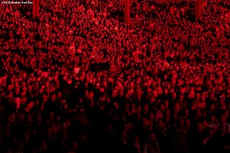September 13, 2019 , Boston, MA: Fans look on during a concert by The Who at Fenway Park in Boston, Massachusetts Friday, September 13, 2019. (Photo by Billie Weiss/Boston Red Sox)