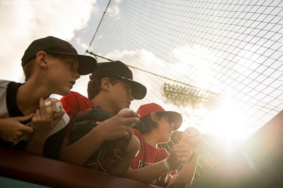 BOSTON, MA - SEPTEMBER 29: Fans look on before a game between the Boston Red Sox and the Baltimore Orioles on September 29, 2019 at Fenway Park in Boston, Massachusetts. (Photo by Billie Weiss/Boston Red Sox/Getty Images) *** Local Caption ***