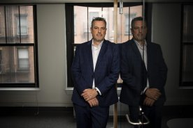 June 18, 2019 , Boston, MA: Members of Elevate Communications pose for portraits at their office in Boston, Massachusetts Tuesday, June 18, 2019. (Photo by Billie Weiss/Elevate Communications)