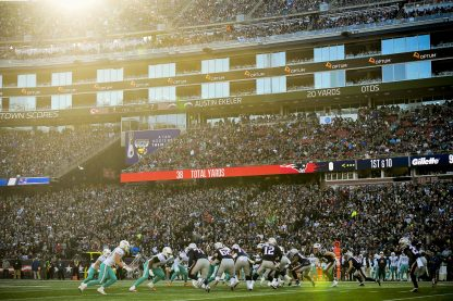 FOXBOROUGH, MA - DECEMBER 29: A general view during a game between the New England Patriots and the Miami Dolphins at Gillette Stadium on December 29, 2019 in Foxborough, Massachusetts. (Photo by Billie Weiss/Getty Images) *** Local Caption ***