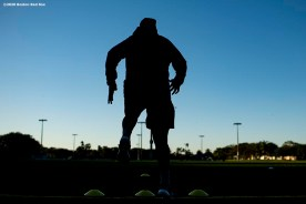 WESTON, FL - DECEMBER 3: Christian Vazquez #7 of the Boston Red Sox does footwork drills during an early morning off-season workout on December 3, 2019 at in Weston, Florida. (Photo by Billie Weiss/Boston Red Sox/Getty Images) *** Local Caption *** Christian Vazquez