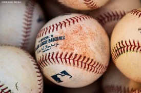 FT. MYERS, FL - FEBRUARY 15: Baseballs are shown during a Boston Red Sox team workout on February 15, 2020 at JetBlue Park at Fenway South in Fort Myers, Florida. (Photo by Billie Weiss/Boston Red Sox/Getty Images) *** Local Caption ***