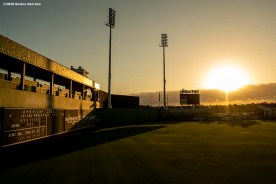 FT. MYERS, FL - FEBRUARY 15: A general view as the sun rises during a Boston Red Sox team workout on February 15, 2020 at JetBlue Park at Fenway South in Fort Myers, Florida. (Photo by Billie Weiss/Boston Red Sox/Getty Images) *** Local Caption ***