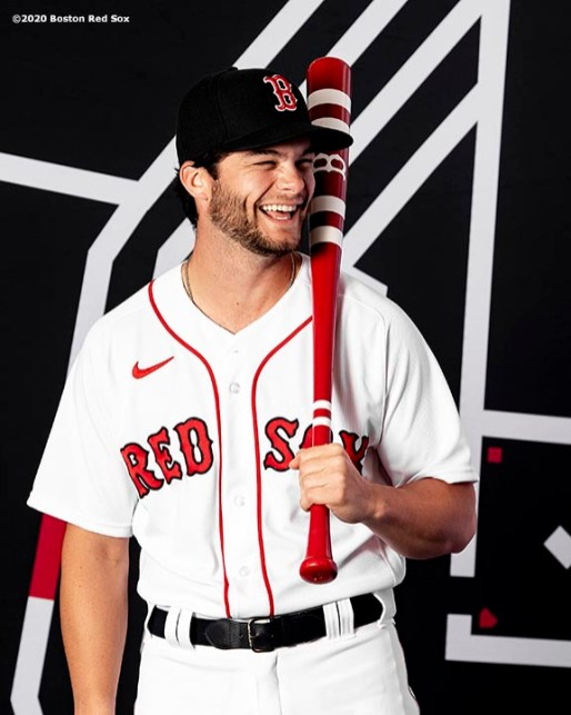 FT. MYERS, FL - FEBRUARY 19: Andrew Benintendi #16 of the Boston Red Sox poses for a portrait during team photo day on February 19, 2020 at jetBlue Park at Fenway South in Fort Myers, Florida. (Photo by Billie Weiss/Boston Red Sox/Getty Images) *** Local Caption *** Andrew Benintendi