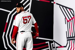 FT. MYERS, FL - FEBRUARY 19: Eduardo Rodriguez #57 of the Boston Red Sox poses for a portrait during team photo day on February 19, 2020 at jetBlue Park at Fenway South in Fort Myers, Florida. (Photo by Billie Weiss/Boston Red Sox/Getty Images) *** Local Caption *** Eduardo Rodriguez