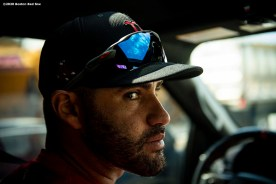 FT. MYERS, FL - FEBRUARY 28: J.D. Martinez #28 of the Boston Red Sox looks on as he drives to CenturyLink Sports Complex for a Grapefruit League game against the Minnesota Twins on February 28, 2020 in Fort Myers, Florida. (Photo by Billie Weiss/Boston Red Sox/Getty Images) *** Local Caption *** J.D. Martinez