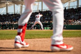 FT. MYERS, FL - FEBRUARY 29: C.J. Chatham #43 of the Boston Red Sox bats during the third inning of a Grapefruit League game against the New York Yankees on February 29, 2020 at jetBlue Park at Fenway South in Fort Myers, Florida. (Photo by Billie Weiss/Boston Red Sox/Getty Images) *** Local Caption *** C.J. Chatham