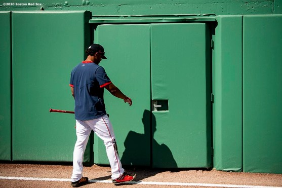 FT. MYERS, FL - MARCH 7: Xander Bogaerts #2 of the Boston Red Sox exits the field before a Grapefruit League game against the Toronto Blue Jays on March 7, 2020 at jetBlue Park at Fenway South in Fort Myers, Florida. (Photo by Billie Weiss/Boston Red Sox/Getty Images) *** Local Caption *** Xander Bogaerts