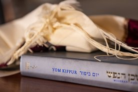 September 28, 2020, Boston, MA: Virtual Yom Kippur services are held during the coronavirus pandemic at Temple Israel in Boston, Massachusetts Monday, September 28, 2020. (Photo by Billie Weiss/Temple Israel)