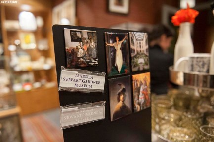 """The gift shop is shown during a 'Winter Solstice' themed Third Thursdays at the Isabella Stewart Gardner Museum in Boston, Massachusetts Thursday, December 18, 2014."""