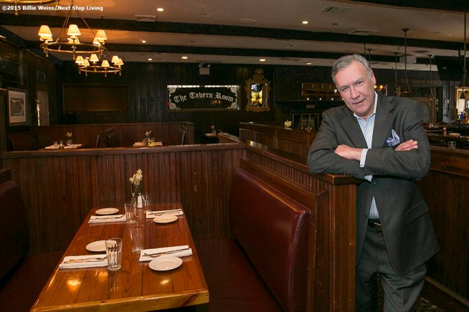 """Gerry Lynch, General Manager of the Stockyard Steakhouse Restaurant, poses for a portrait in the seating area of the Stockyard Steakhouse restaurant in Brighton, Massachusetts is shown Tuesday, February 10, 2015."""