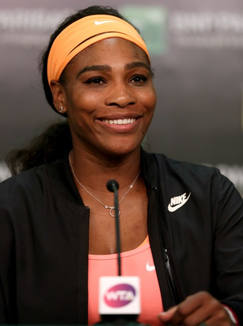 """Serena Williams announcers her retirement from the 2015 BNP Paribas Open in Indian Wells, California on Friday, March 20, 2015."""