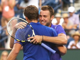"""Vasek Pospisil and Jack Sock defeat Simone Bolelli and Fabio Fognini to win the Menís Doubles Championship on Stadium 1 at the 2015 BNP Paribas Open in Indian Wells, California on Saturday, March 21, 2015."""