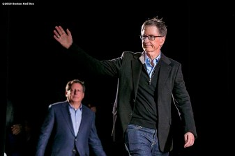 """""""Boston Red Sox Principal Owner John Henry is introduced at the NESN Town Hall during the 2016 Winter Weekend at Foxwoods Resort & Casino in Ledyard, Connecticut Friday, January 22, 2016."""""""