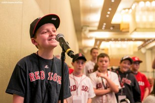 """""""A young fan asks a question at a panel during the 2016 Winter Weekend at Foxwoods Resort & Casino in Ledyard, Connecticut Saturday, January 23, 2016."""""""