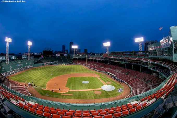 BOSTON, MA - APRIL 11: Fenway Park is shown before the Boston Red Sox home opener against the the Baltimore Orioles on April 11, 2016 at Fenway Park in Boston, Massachusetts . (Photo by Billie Weiss/Boston Red Sox/Getty Images) *** Local Caption ***