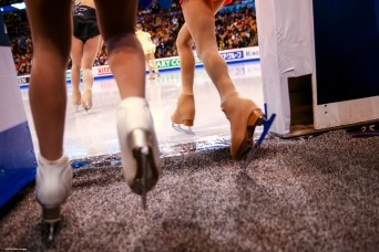 BOSTON, MA - MARCH 31: Skaters take the ice to warm up before competing during Day 4 of the ISU World Figure Skating Championships 2016 at TD Garden on March 31, 2016 in Boston, Massachusetts. (Photo by Billie Weiss - ISU/ISU via Getty Images) *** Local Caption ***