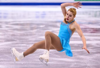 BOSTON, MA - MARCH 31: Alaine Chartrand of Canada competes during Day 4 of the ISU World Figure Skating Championships 2016 at TD Garden on March 31, 2016 in Boston, Massachusetts. (Photo by Billie Weiss - ISU/ISU via Getty Images) *** Local Caption *** Alaine Chartrand
