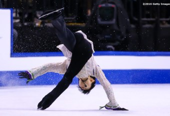 BOSTON, MA - APRIL 1: Yuzuru Hanyu of Japan competes during Day 5 of the ISU World Figure Skating Championships 2016 at TD Garden on April 1, 2016 in Boston, Massachusetts. (Photo by Billie Weiss - ISU/ISU via Getty Images) *** Local Caption *** Yuzuru Hanyu