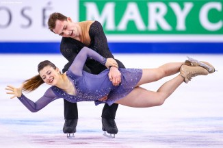 BOSTON, MA - MARCH 31: Natalia Kalszek and Maksim Spodirev of Poland compete during Day 4 of the ISU World Figure Skating Championships 2016 at TD Garden on March 31, 2016 in Boston, Massachusetts. (Photo by Billie Weiss - ISU/ISU via Getty Images) *** Local Caption *** Natalia Kalszek; Maksim Spodirev