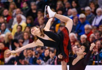 BOSTON, MA - MARCH 31: Maia Shibutani and Alex Shibutani of the United States compete during Day 4 of the ISU World Figure Skating Championships 2016 at TD Garden on March 31, 2016 in Boston, Massachusetts. (Photo by Billie Weiss - ISU/ISU via Getty Images) *** Local Caption *** Maia Shibutani; Alex Shibutani