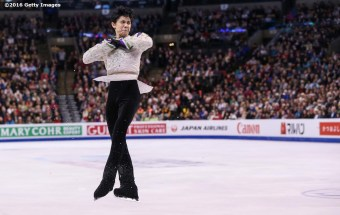 BOSTON, MA - APRIL 1: Yuzuru Hanzu of Japan competes during Day 5 of the ISU World Figure Skating Championships 2016 at TD Garden on April 1, 2016 in Boston, Massachusetts. (Photo by Billie Weiss - ISU/ISU via Getty Images) *** Local Caption *** Yuzuru Hanzu