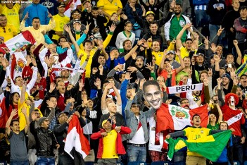 FOXBORO, MASSACHUSETTS - JUNE 12: Fans cheer during a group B match between Brazil and Peru at Gillette Stadium as part of Copa America Centenario US 2016 on June 12, 2016 in Foxboro, Massachusetts, US. (Photo by Billie Weiss/LatinContent/Getty Images)
