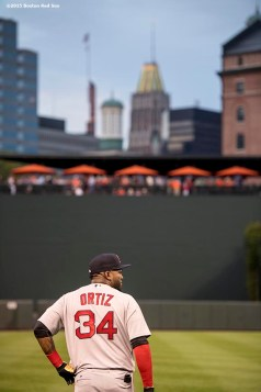BALTIMORE, MD - SEPTEMBER 21: David Ortiz #34 of the Boston Red Sox looks on before a game against the Baltimore Orioles on September 21, 2016 at Oriole Park at Camden Yards in Baltimore, Maryland. (Photo by Billie Weiss/Boston Red Sox/Getty Images) *** Local Caption *** David Ortiz