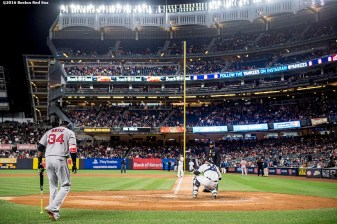 NEW YORK, NY - SEPTEMBER 29: David Ortiz #34 of the Boston Red Sox walks to the plate during the second inning of his final game at Yankee Stadium against the New York Yankees on September 29, 2016 at Yankee Stadium in the Bronx borough of New York City. (Photo by Billie Weiss/Boston Red Sox/Getty Images) *** Local Caption *** David Ortiz