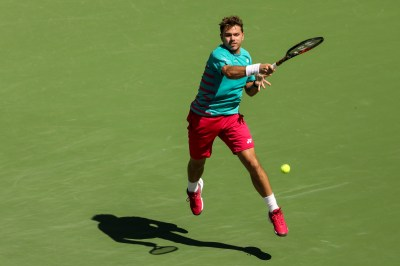 Stan Wawrinka in action during the men's semi-final against Pablo Carreno Busta at the Indian Wells Tennis Garden in Indian Wells, California on Saturday, March 18, 2017. (Photo by Billie Weiss/BNP Paribas Open)