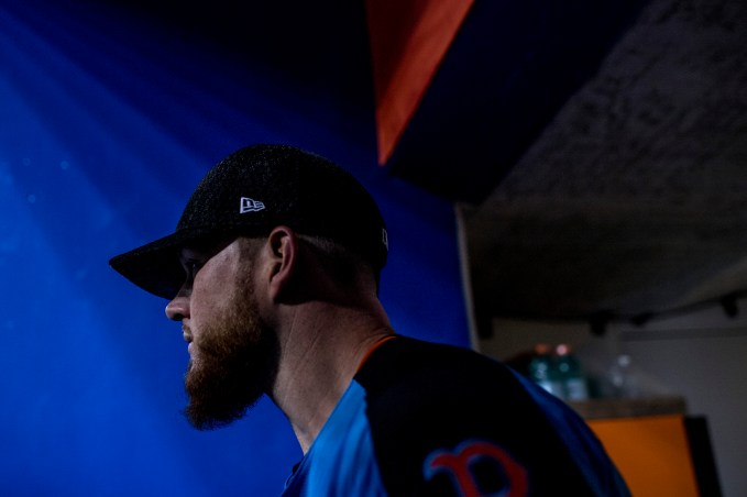 MIAMI, FL - JULY 10: Craig Kimbrel #47 of the Boston Red Sox walks onto the field during Gatorade All-Star Workout Day at Marlins Park on July 10, 2017 in Miami, Florida. (Photo by Billie Weiss/Boston Red Sox/Getty Images) *** Local Caption *** Craig Kimbrel